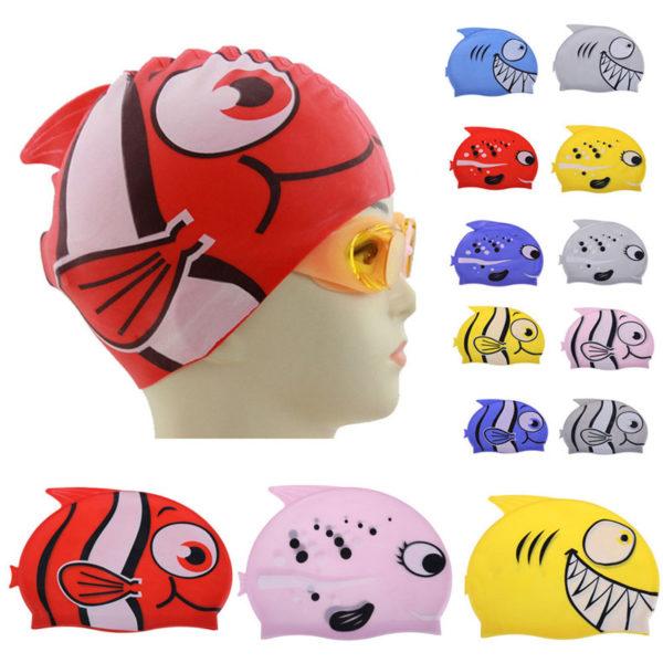 Детские шапочки для бассейна с яркими принтами