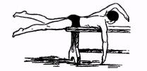 Подводящее упражнение для отработки синхронности дыхания и движения рук и ног при плавании кролем