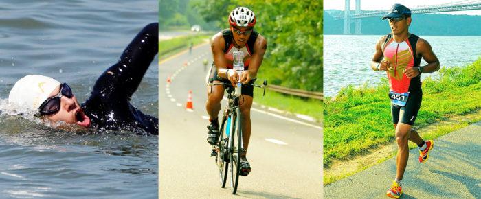 Плавание, бег и езда на велосипеде