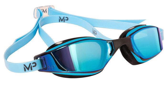 Очки для плавания с голубыми линзами