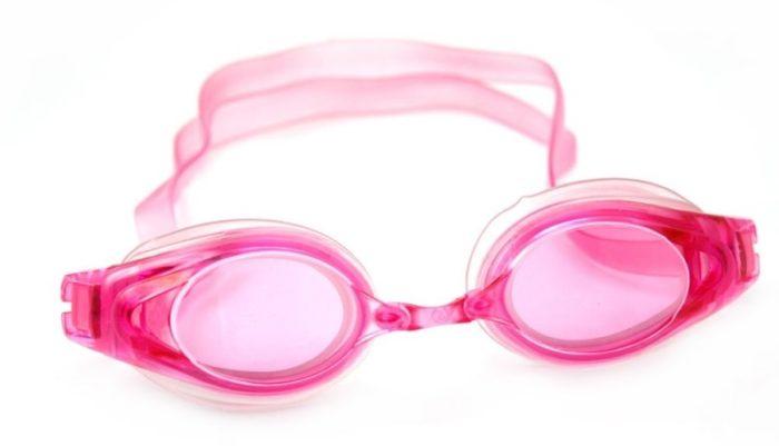 Очки для плавания с розовыми линзами