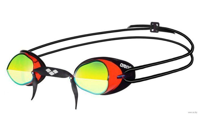 Очки для плавания стартовые с двойным ремнем